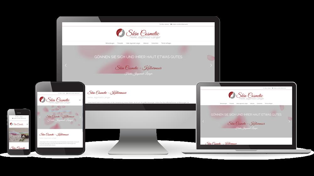 Vorschaudarstellung Der Erstellten Webseite Für Skin Cosmetic - Heike Jagomast-Langer Kolbermoor